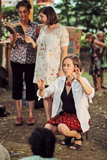 Live sound for Tiny Time Travellers film — Maryem Tollar, Shifra Cooper, Juliet Palmer