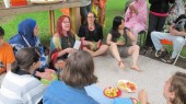 Watermelon drumming with Germaine Liu, Christine Duncan and Juliet Palmer