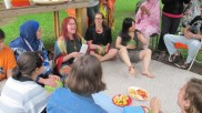 Watermelon drumming with Germaine Liu, Christine Duncan and Juliet Palmer