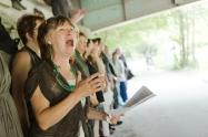 Element Choir with Cathy Elliott. (Native Earth). Photo: Saajid Motala
