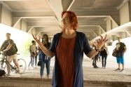 Christine Duncan leads Element Choir. Photo: Saajid Motala